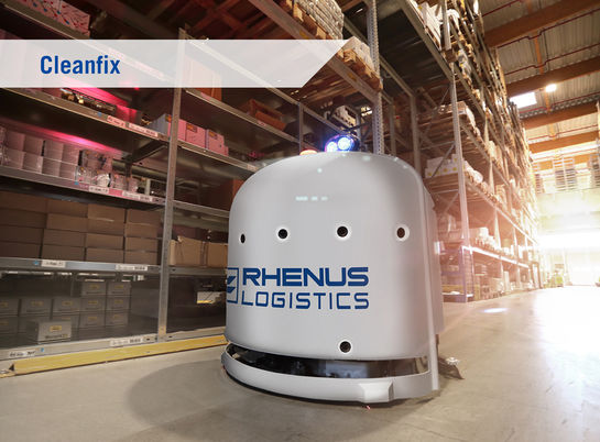 Cleaning, Cleanfix, Innovation, Rhenus Innovation, Rhenus, Warehousing Solutions, Warehouse, Logistics, Technology, Technologie